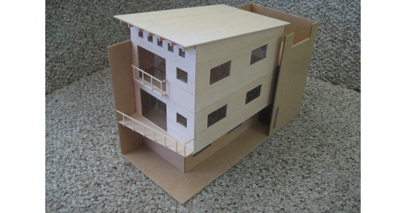 Model of a new building
