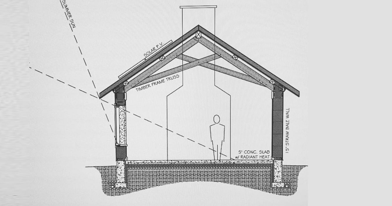 sketch of timber frame